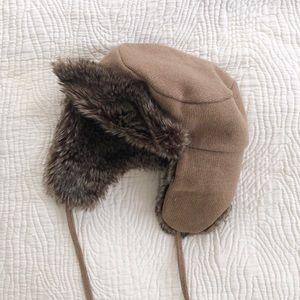 J.Crew Fur Trapper Hat